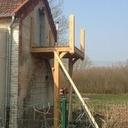 Balcon en chêne