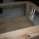 Table basse de salon double plateau vitrée