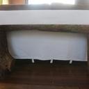 Banc en bois de chauffage