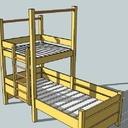 Une lit cabane