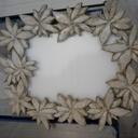 Petit cadre en pin sculpter et patiner , et photo de création divers