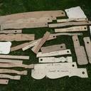 Gabarits utilisés pour toupillage courbe