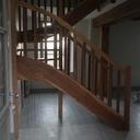 Escalier chêne brun