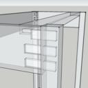 Plan console à tiroir