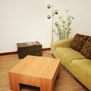 Table basse plaqué chêne