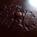 Table basse tatajuba massif / insert / sculpture