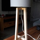 Lampe bureau en palette