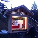 Porte menu de restaurant en chêne massif