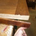 Restauration d'une table de ferme et ses deux bancs
