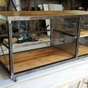 Meuble TV métal et bois