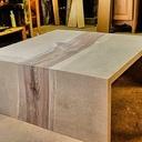 Table basse bi-matière