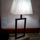 Lampe bois métal modèle 1