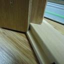 Cadre étagère avec la butée de positionnement de rail