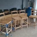 Chaises de bar en hêtre et chêne