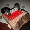 Guide d'affûtage avec des roues en Lego