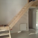 Escalier provisoire