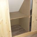Les placards sous les rampants, vue de l'intérieur d'un module.