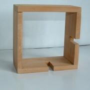 Module carré une entaille en merisier