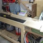 Vue sur ma vieille radiale rajeunie par une rallonge de table