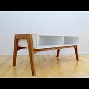 Oak and Plywood Coffee Table par Last Minute Thoughts