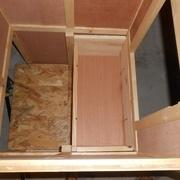 Vue de dessus une fois les tiroirs en place