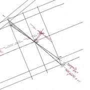 traçage des tangentes int et ext vue de la section gauche en élévation