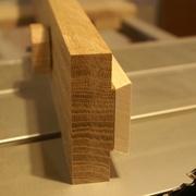 Coulisse verrouillage en bois (chêne et sycomore)