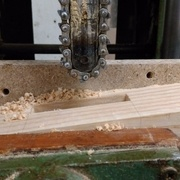 réalisation des mortaise pour la grande traverse basse