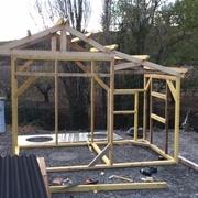 Construction de l'ossature bois