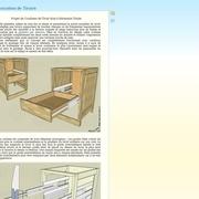 Coulisse de tiroir en bois à extension totale