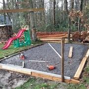 porte abris de jardin en bois