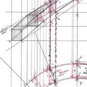 détail bas, les points x x' et z z' déterminent le passage des calibres rallongés