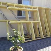 fabriquer les murs ( sur la terrasse)