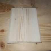 Bout de planche préparé : dégauchi/raboté, chanfreiné, huilé, prêt à servir.