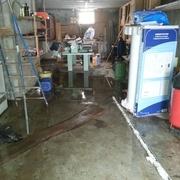 une petite inondation a cause de la neige (coupure d'électricité) et de la fonte de cette dernière...