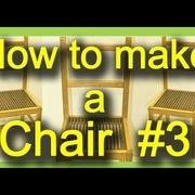 Fabrication de chaises