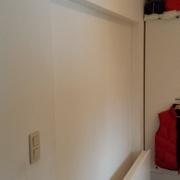 Mur en gyproc pour séparer la chambre du dressing
