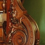 pilastre noyaux creux néoclassique louis xv sculpté