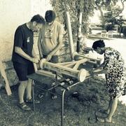 L'équipe de fabrication du kart