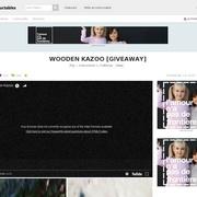 Kazoo en bois