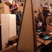 un début de harpe... ne faites pas attention au bazar