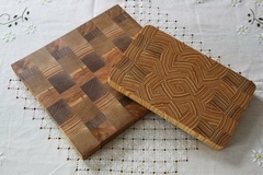 Nouvelle série de planches à découper en bois de bout