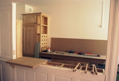 Fabrication d'une cuisine en frêne massif