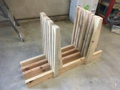 Rack à bois façon mathias wandel