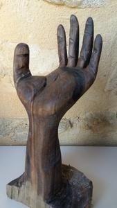 Une main en noyer