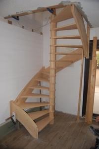 Escalier Frene naturel