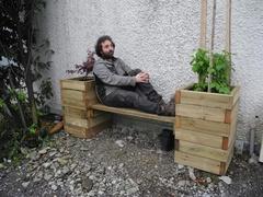 Le banc-jardinière de l'atelier