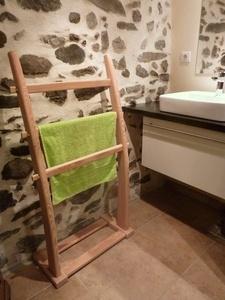 Porte serviettes en mélèze