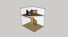 Escalier octogonal