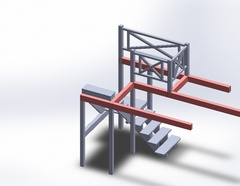 Plan de l'escalier rustique